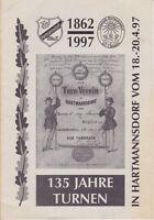 135 Jahre Turnen in Hartmannsdorf 1862-1997, eine Chronik zum Vereinsjubiläum