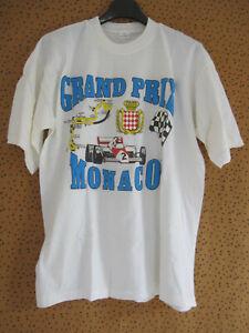Tee Shirt Grand Prix de Monaco Homme Vintage Shirt 80'S formule 1 - M