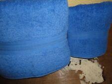 RALPH LAUREN CLASSIC CORNFLOWER BLUE (2PC) SET BATH & HAND TOWELS SUPIMA COTTON