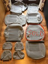 Genuine & Rare VW Golf MK4 Car Seat Covers in Silver/Grey