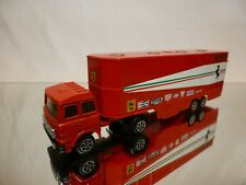 POLISTIL ART RJ101 FIAT 170 F1 CAR TRANSPORTER - FERRARI - RED 1:60? - GOOD