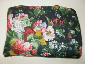 """Ralph Lauren Cossette Isadora Black Floral King Fitted Sheet French Country 16"""""""