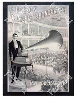 Historic Edison phonographs Advertising Postcard