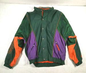 Vintage Starter S2 Hooded Jacket Windbreaker Size Medium Full Zip 1990s