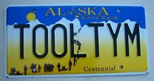 "ALASKA VANITY LICENSE PLATE "" TOOL TYM "" TIME  TIM ALLEN TOOLS GARAGE MECHANIC"