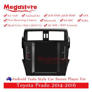 "9.7"" Android 10.1Tesla Style Non-DVD Car Player GPS For Toyota Prado 2014-2017"