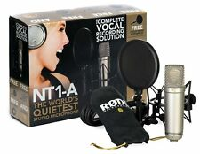 Rode NT1-A Anniversary Vocal Cardioid Condenser Microphone Package MultiC... New