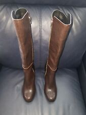 Kork-Ease Dark Brown/Black Harness Knee High Tall Leather Boots Size 11 💟 NWOB