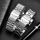 18-30mm Curved End Solid Stainless Steel Watch Strap Band Watchband Bracelet