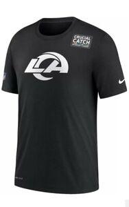 2020 Nike Dri-FIT LA Rams Crucial Catch Intercept Cancer Tee Shirt Sz 4XL XXXXL