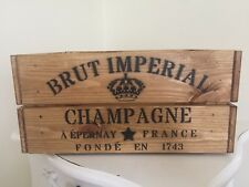 Vintage Style Wooden Brut Imperial Champagne Wine Crate Box Storage Home Wedding