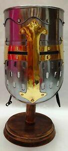 Medieval Knight Helmet Norman Crusader Templar Helmet Viking Helmet w/ Liner