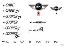 Genuine Mini Cooper Jcw One F54 All4 D S Sd Clubman Mini Badge 51147351370