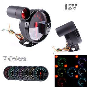"""5"""" Car RPM Tachometer Gauge 7Color Backlight LED Shift Light For 4/6/8 Cylinder"""