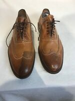 Mercanti Fiorentini Mens Tan Leather Brogue Lace Up Shoes Uk 11.5m Ref Ap02