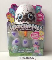 New Hatchimals CollEGGtibles 4 Pk + Bonus Season 1 Blind Teal Egg Cloud Cove