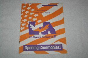 1991 United States Olympic Festival Opening Ceremonies PROGRAM * Dodger Stadium