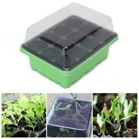 12 Cell Hole Seedling Starter Tray Nursery Seed Germination Plants Q6X0
