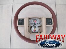 11 thru 12 Super Duty F250 F350 OEM Ford Leather Steering Wheel King Ranch NEW