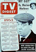 TV Guide 1953 Pre National Jackie Gleason TV Digest V7N1 Imogene Coca Sid Caesar