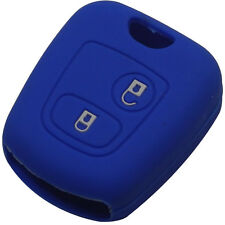Blue Silicone Key Case for Peugeot 206 307 207 408 Car Key Protection Cover thef