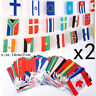 2 pcs 2018 Russia World Cup 32 Country Flags Banner Bunting Hanging Colorful _TI