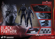 HOT TOYS BLACK PANTHER CAPTAIN AMERICA CIVIL WAR 1/6 ACTION FIGURE MMS363 NEW