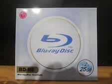 LG BLU-RAY 1-2X BD-RE 25GB  WHITE PRINTABLE TO CENTER HUB (LAST 7 HURRY)