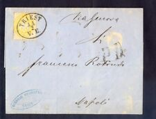 9050 Austria(Italy),dated 11.02.1865,Letter from Triest to Napoli with Nr: 24