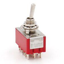 Miniatur Kippschalter 4PDT 4XUM 2 Stellungen: EIN / EIN 12-polig 2A 250VAC UL