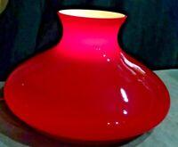 "10"" fit. TAM O SHANTER GLOBE CASED RED OIL LAMP GLASS SHADE KERO RAYO"