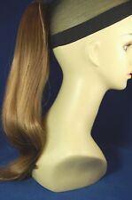 """Hairpiece Clip-on Lt Golden Reddish Brown #12-- by Mona Lisa 18"""" Synthetic"""