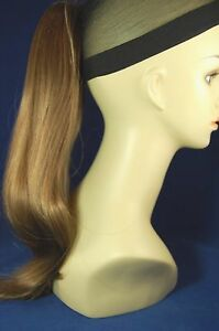 "Hairpiece Clip-on Lt Golden Reddish Brown #12-- by Mona Lisa 18"" Synthetic"