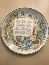 PETER RABBIT WEDGWOOD 1995 CALENDAR PLATE LIMITED  EDITION NO. 95