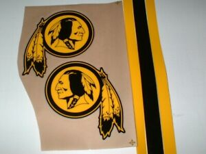 WASHINGTON REDSKINS ECLIPSE FULL SIZE FOOTBALL DECALS