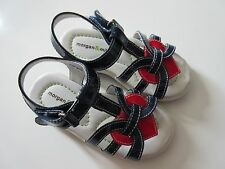 NIB Morgan & Milo Kira Navy Blue T-Strap Heart Detail Patent Leather Sandal 11