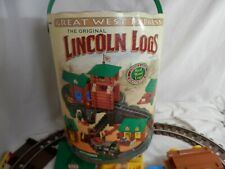 Lincoln Logs Great West Express Rail Road Replacement Track Roof Windows & More