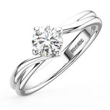 0.55CT Round Diamonds Solitaire Engagement Ring in Platinum