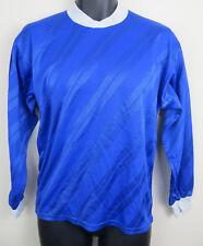 Retro 80s Football Shirt Soccer Jersey Trikot Maglia Maillot Blue Small S XS