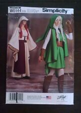 Simplicity Assassins Creed Zelda Link Costume Womens Hooded Cape H5 6-14 Uncut