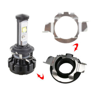 1 Pair H7 LED Headlight Bulb Retainers Holder Adapter For Benz BMW Audi VW Buick