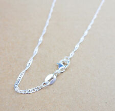 "Wholesale 30"" 1PCS Fashion Jewelry 925 Silver Plated Water Wave Chain Necklace"