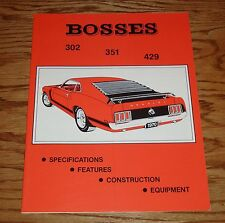 1969 1970 1971 Ford Mustang Boss Illustrated Facts Specifications Manual 302 429
