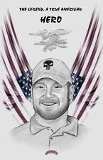 Chris Kyle tribute legend sniper navy seal hero11x17 signed print Dan DeMille