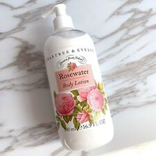 Crabtree & Evelyn Rosewater Body Lotion 500ml / 16.9 oz with Pump - New