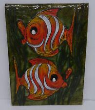 mid century design - Dekorative Ruscha Keramik Wandfliese Fisch Motiv 739? ~60er