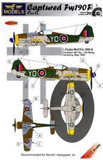 LF Models Decals 1/72 CAPTURED FOCKE WULF Fw-190F Part 2