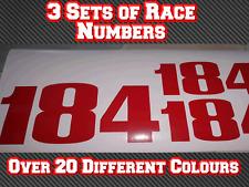 3 Sets Pro Go Kart Race Numbers Vinyl Sticker Decals Trials Dirt Bike D7 TKM