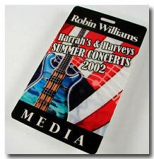 ROBIN WILLIAMS MEDIA BACKSTAGE PASS HARRAH'S HARVEYS SUMMER CONCERTS 2002 TAHOE