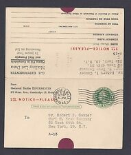 1946 GENERAL RADIO EXPERIMENTER MAILING LIST INFO UPDATE, NEW YORK NY